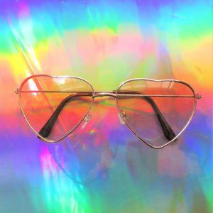 Accessories - nwt new brown heart shaped sunglasses boho glasses